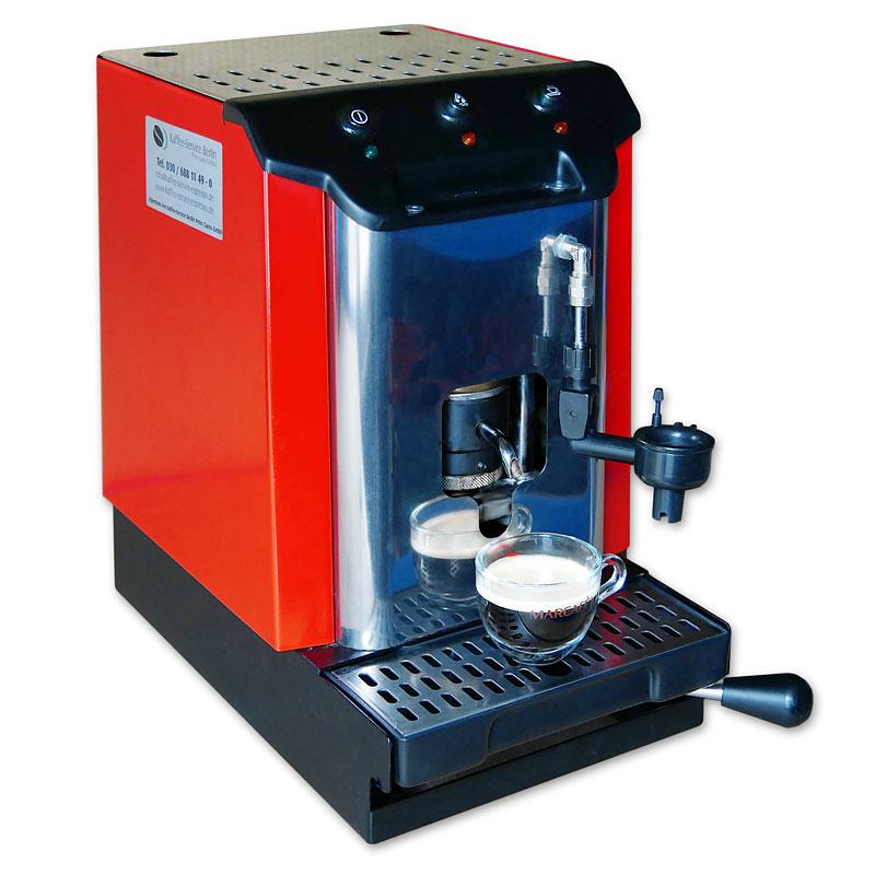 espresso pad maschine mit pads von marcafe kaffee. Black Bedroom Furniture Sets. Home Design Ideas